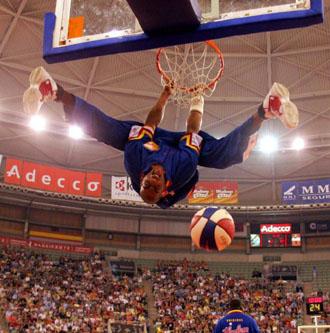 La �ltima visita de los Globetrotters a Madrid, en 2005