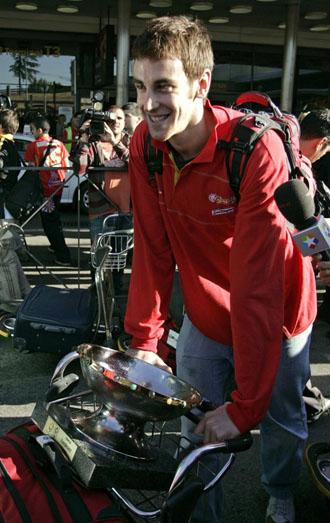V�ctor Claver, a su llegada a Madrid