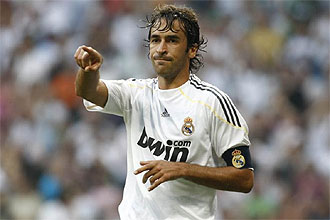 Raúl, durante el Real Madrid-Deportivo.