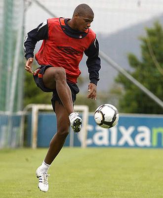 Vasco Fernandes, durante un entrenamiento
