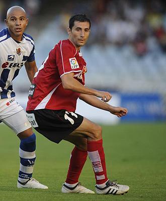Albiol, durante un partido del Murcia