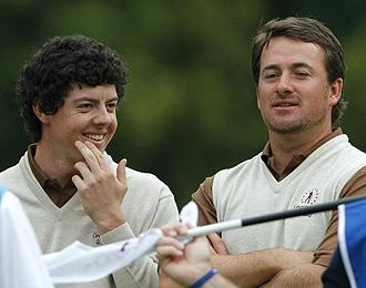 Rory McIlroy y Graeme McDowell durante el torneo