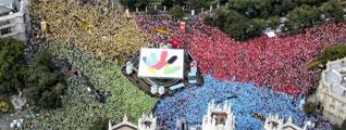 Mosaico humano en Madrid
