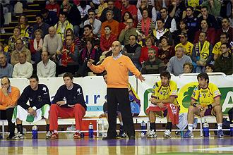 Pastor, en un partido con el Pevarfersa Valladolid