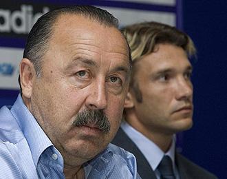 Gazzaev, durante una rueda de prensa