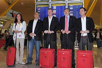 La expedición de Madrid 2016, en el aeropuerto de Barajas antes de viajar a Copenhague.