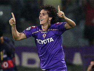 Jovetic celebra su primer gol