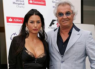 Briatore y su mujer