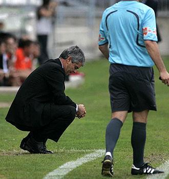 David Amaral, en la foto en claro gesto de desesperaci�n durante el partido ante el Rayo de la pasada jornada, avisa que el Castell�n empieza de cero en Ir�n