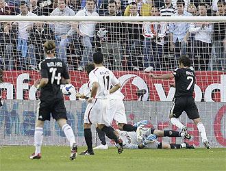 Una imagen del Sevilla-Real Madrid de la pasada temporada.