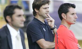 Mauricio Pochettino, durante el partido ante el Villarreal.