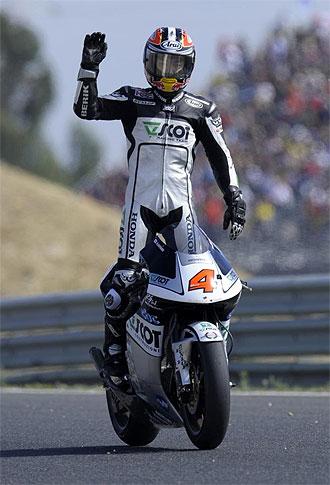 Aoyama, en la carrera de Estoril.