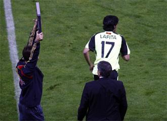�ngel Lafita debut� con el Real Zaragoza en el Vicente Calder�n