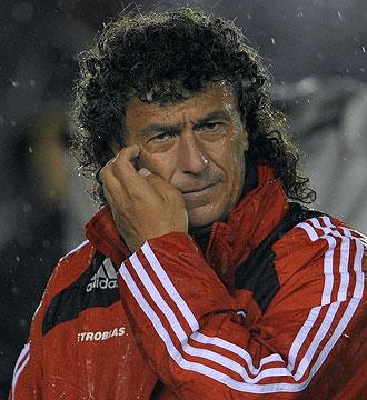 Néstor Gorosito durante un partido de River