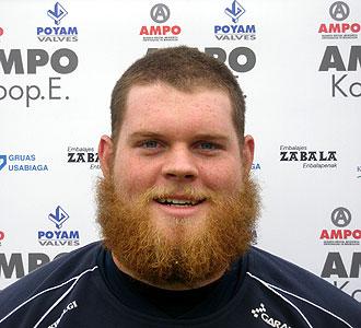 El canadiense Devin Stubel, nuevo fichaje del Ordizia, impresiona tanto por su fortaleza f�sica como por su aspecto... �menuda barba gasta el gach�!