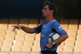 José Ángel Ziganda, técnico del Xerez, durante un entrenamiento