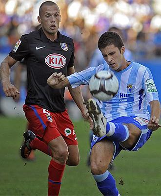 Manu Torres, durante el partido ante el Atl�tico en la primera jornada