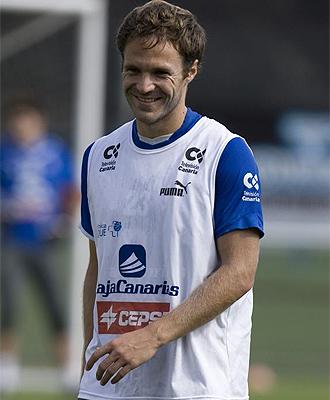 Mikel Alonso durante un entrenamiento del Tenerife
