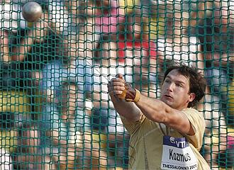 Primoz Kozmus, durante una competici�n.