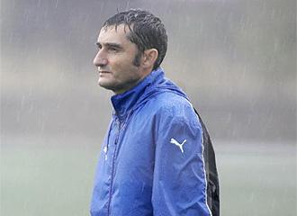 Valverde, en un entrenamiento.