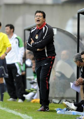 Iñaki Alonso durante un partido del Real Unión