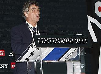 Villar, durante los actos del Centenario