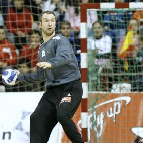Omeyer, en un partido con el THW Kiel