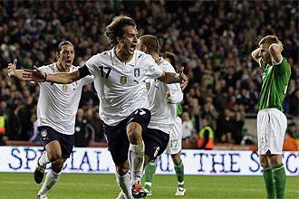 Gilardino celebra el empate ante Irlanda en el tiempo de descuento