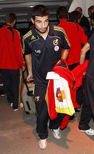 Albiol, con la selección en Erevan