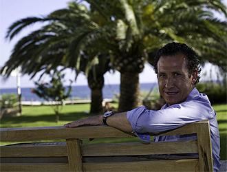 Valdano, en una entrevista en Formentera