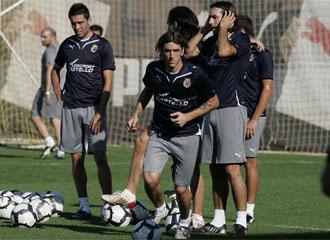 Gonzalo Rodríguez, durante un entrenamiento