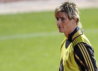 Fernando Torres, tras un entrenamiento.