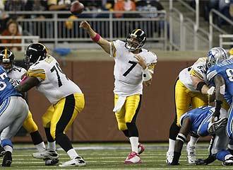 Los Steelers ganaron por primera vez fuera de casa.