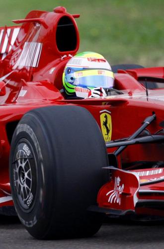 Felipe Massa, a los mandos del Ferrari e Fiorano.