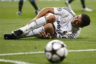 Cristiano, el d�a que se lesion� contra el Olympique.