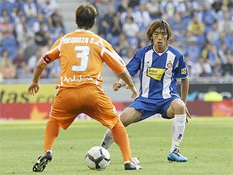 Mendoza, en un partido contra el Espanyol.