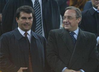 Laporta y Florentino, en el palco del Camp Nou