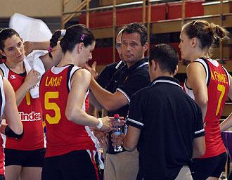 Gido Vermeulen durante un partido de Espa�a