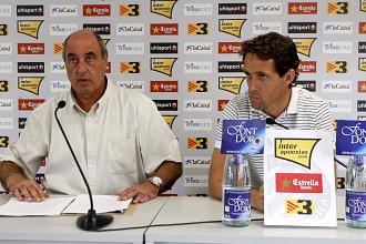 Germán de la Cruz y Ramón Planes, durante su rueda de prensa para hablar de Tamudo