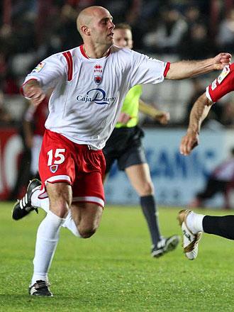 Felipe Gur�ndez, durante un partido del Numancia en Tarragona