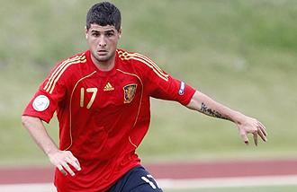 Fran Mérida jugando con España