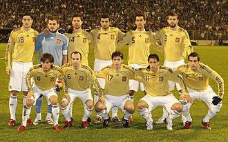 Once de Espa�a contra Bosnia