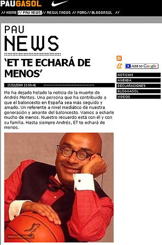 P�gina web de Pau Gasol