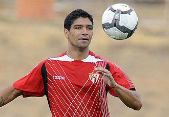 Renato durante un entrenamiento
