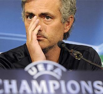 Mourinho, en una rueda de prensa.
