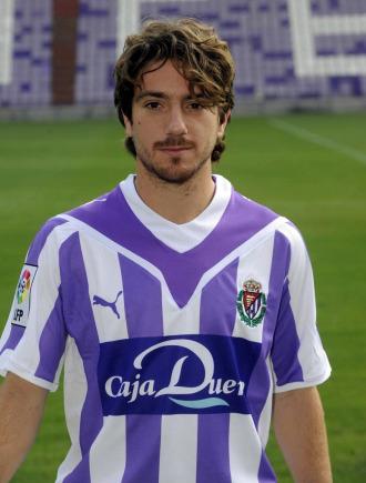 El jugador del Valladolid, Sisinio González 'Sisi'