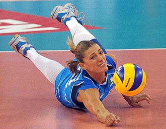Francesca Piccinini, jugando con Italia