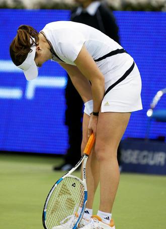 Martina Hingis, en un partido de tenis.