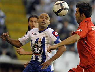 Manuel Pablo, en el choque contra el Sevilla de este pasado fin de semana