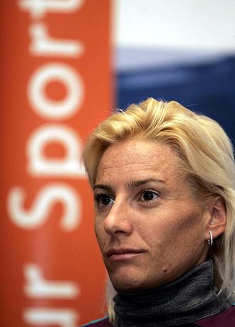 Marta Domínguez, en la gala en la que recibió el premio como mejor atleta europea del año